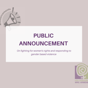 Public Announcement on fighting for women's rights and responding to gender based violence